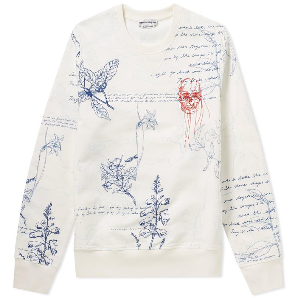 Alexander McQueen Embroidered Skull & Explorer Print Sweat