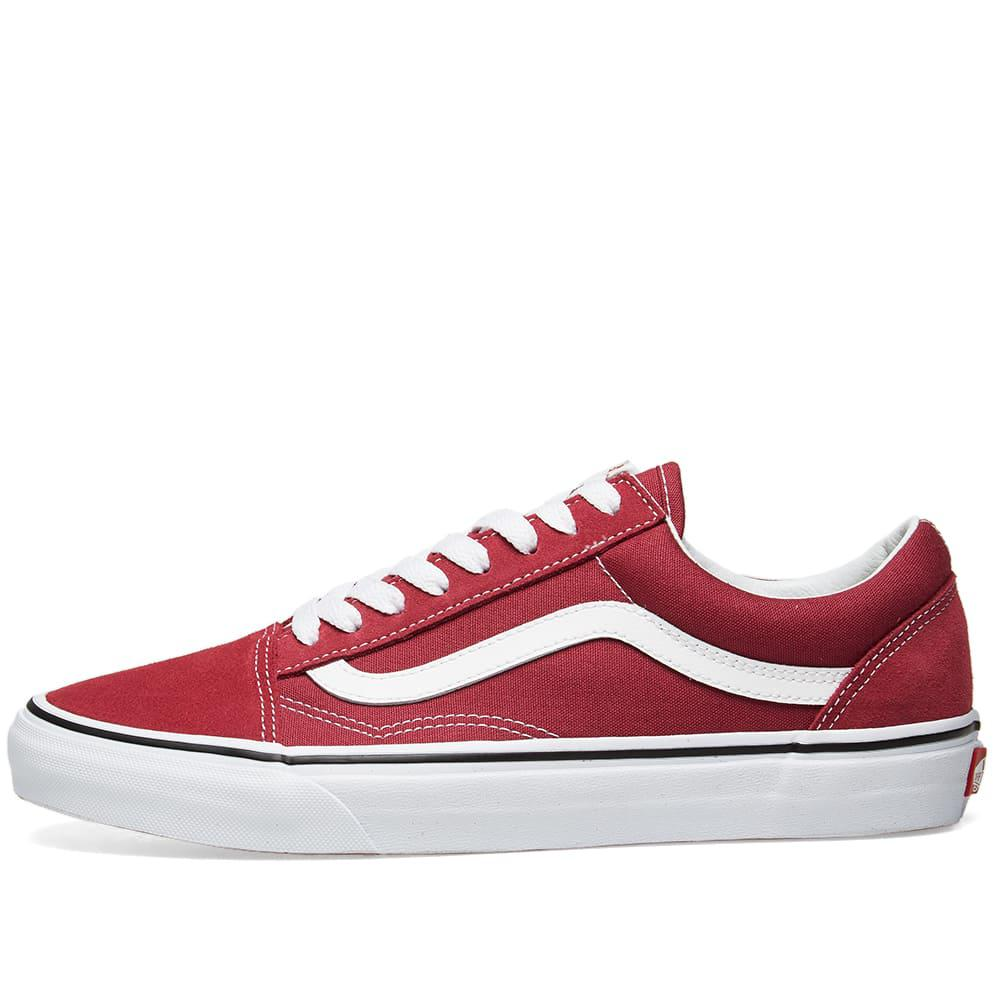 fc93a9542699af Vans - Red Old Skool for Men - Lyst. View fullscreen