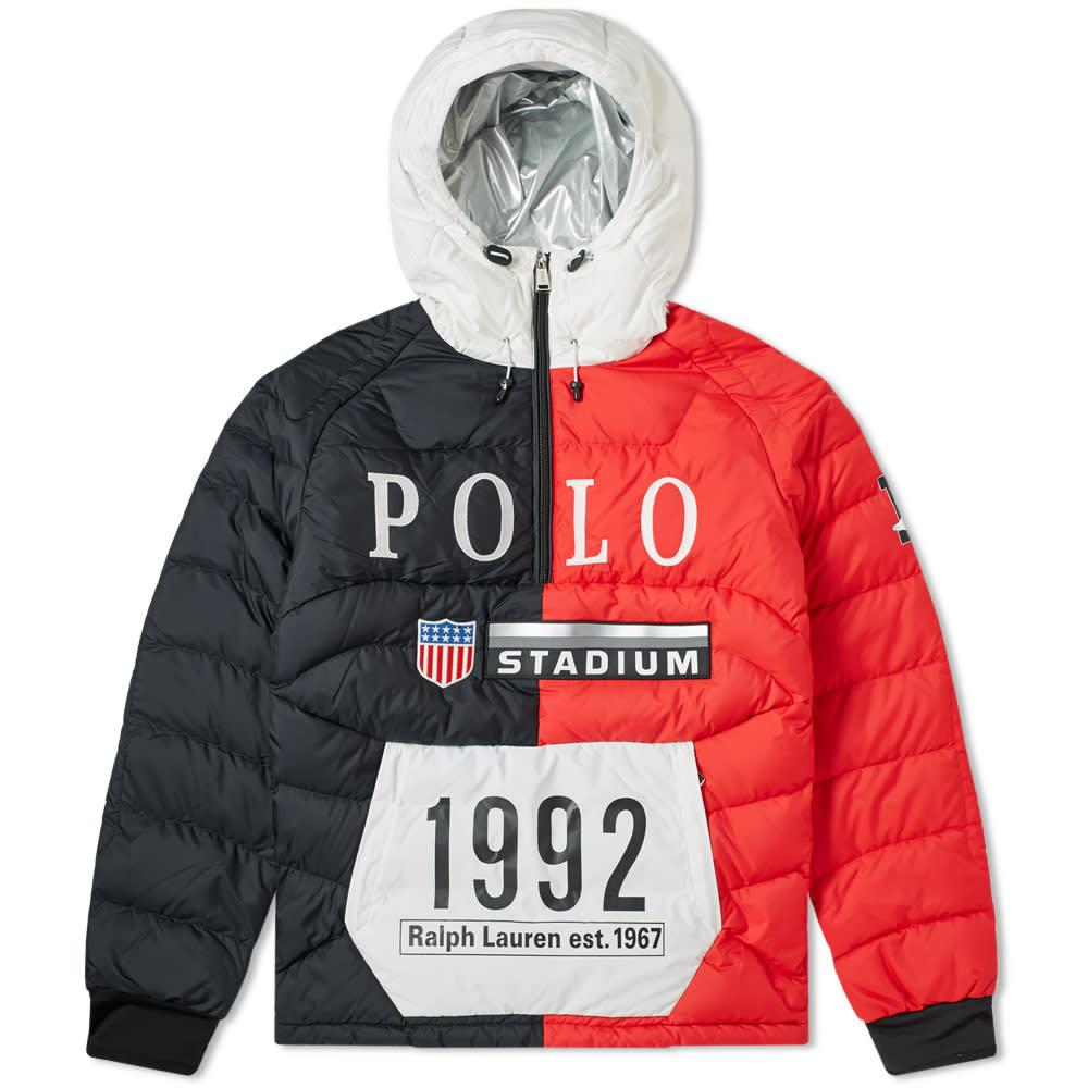 9e3f61305754 Lyst - Polo Ralph Lauren Glacier Colour-block Jacket in Red for Men ...