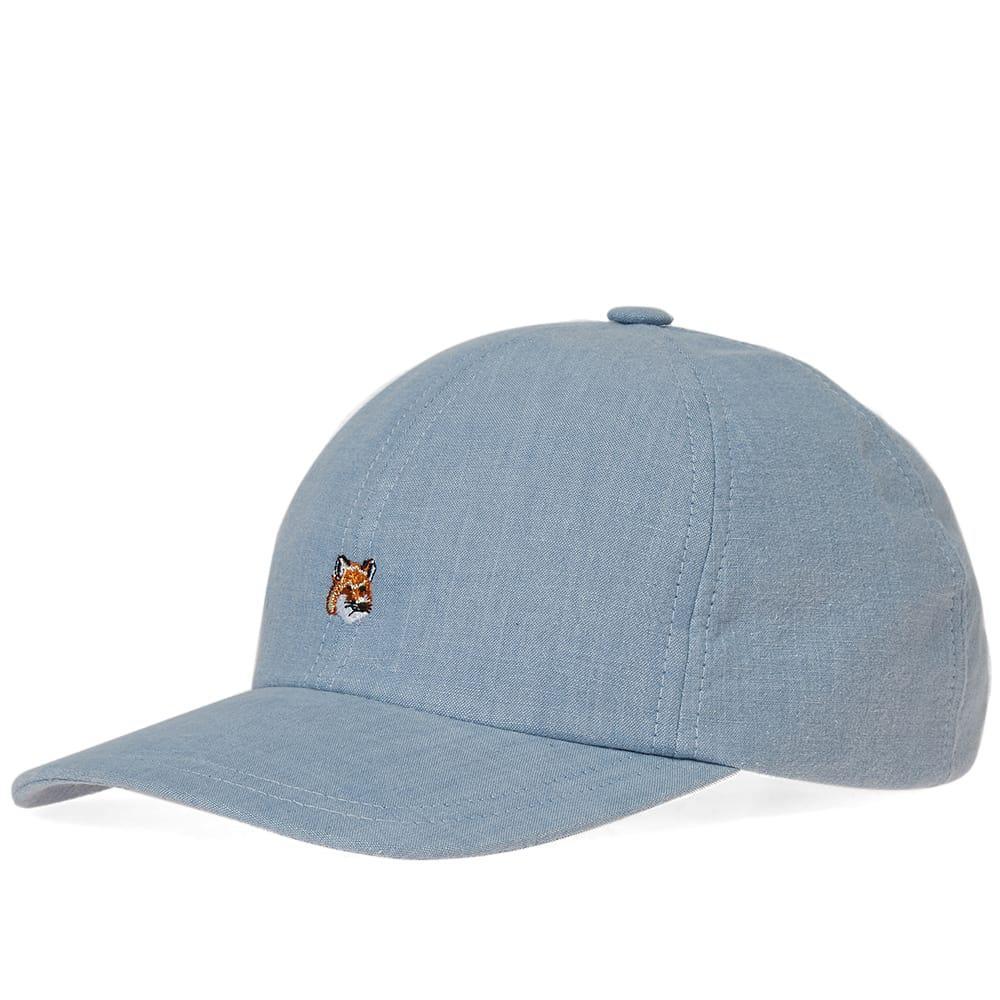 ac07f90973333d Maison Kitsuné 6p Small Fox Head Embroidery Cap in Blue for Men - Lyst