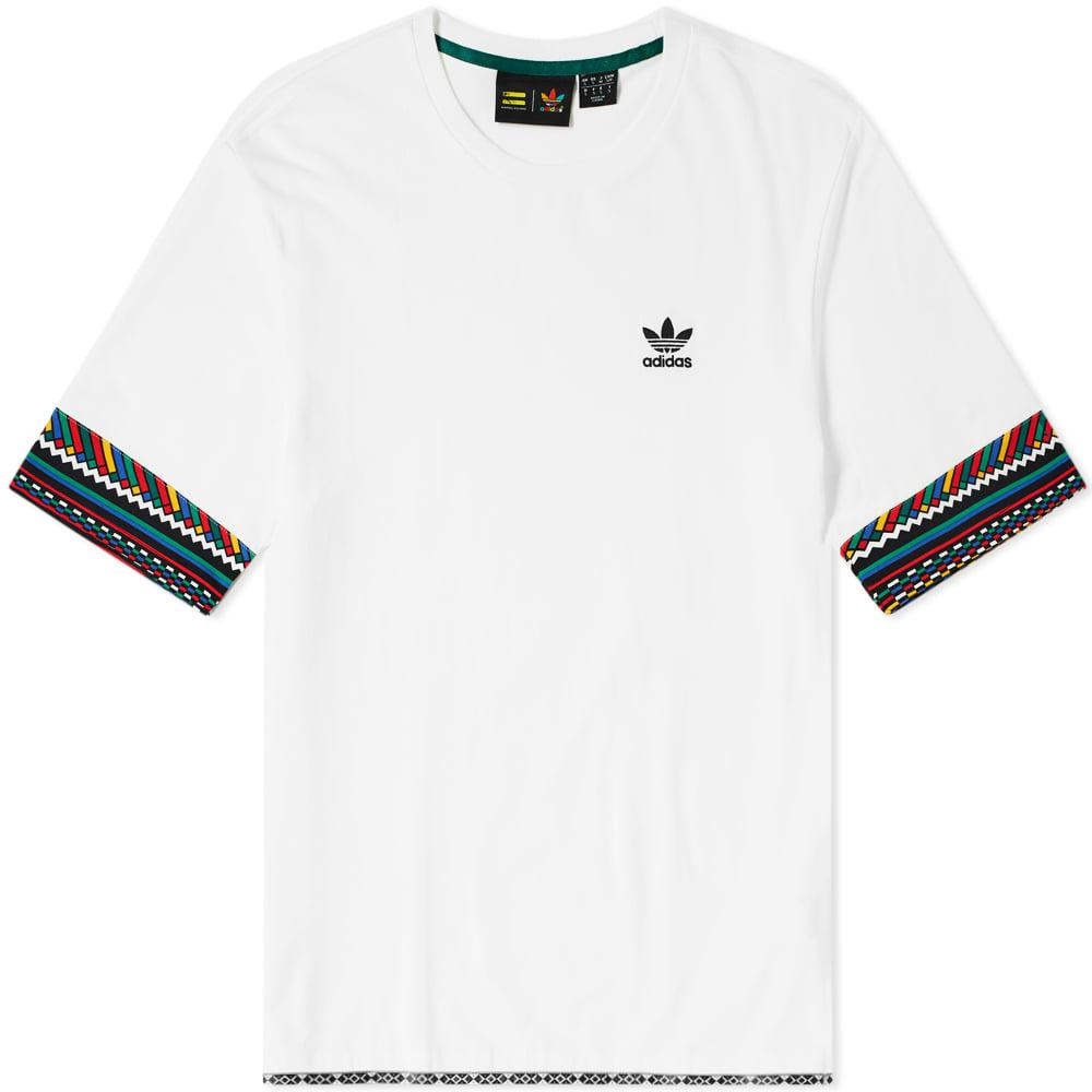 Adidas Originals Green Pharrell Williams X Solar Hu Pocket T shirt for men