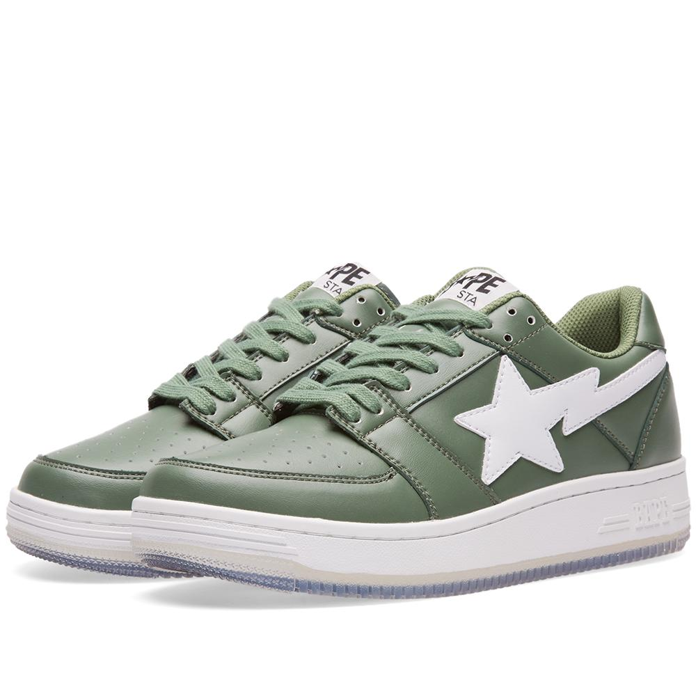 f6bdc52ed829 Lyst - A Bathing Ape Shark Picture Sole Bape Sta in Green for Men