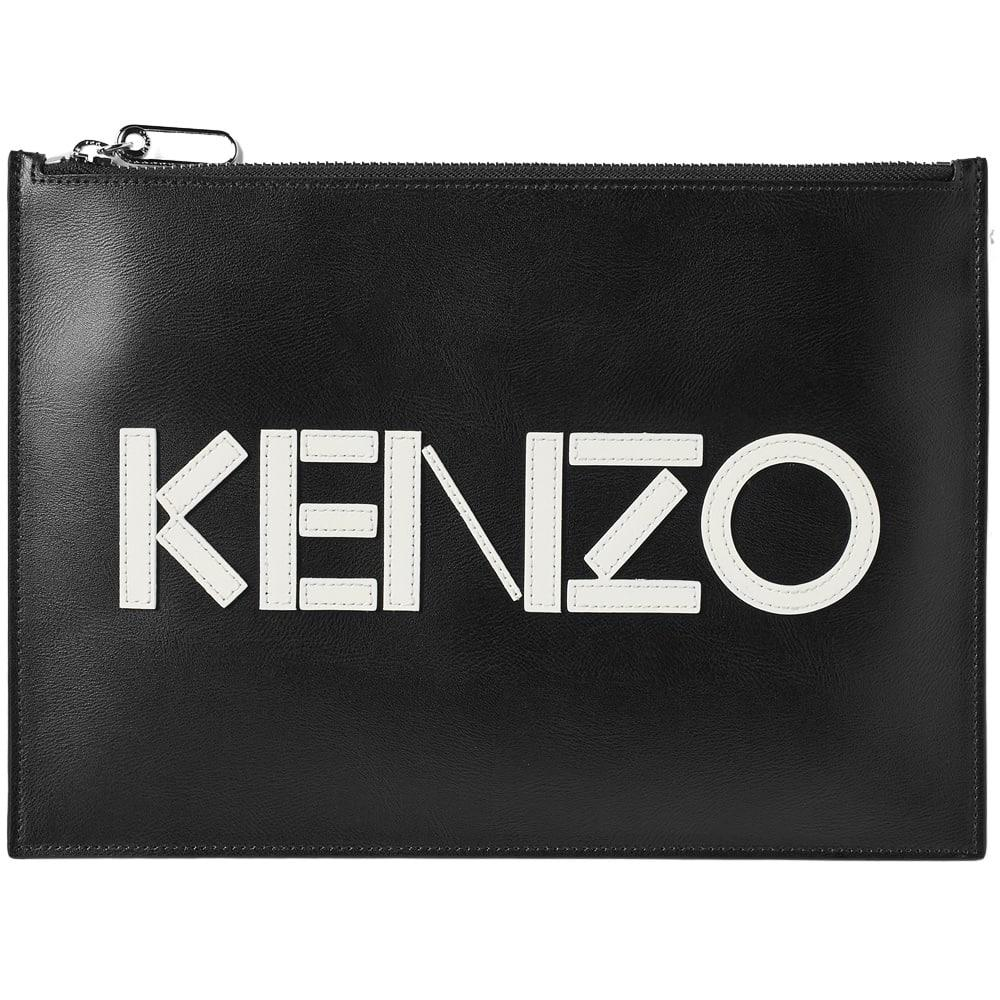 93c5af14f7b KENZO Clutch Bag With A Logo in Black for Men - Save 24% - Lyst