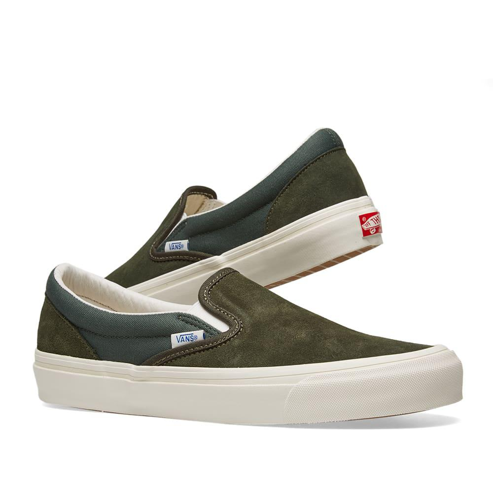 buy popular 94797 e8829 Vans - Green Og Classic Slip-on for Men - Lyst. View fullscreen