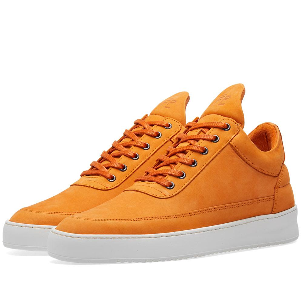 lyst filling pieces low top sneaker in orange for men. Black Bedroom Furniture Sets. Home Design Ideas