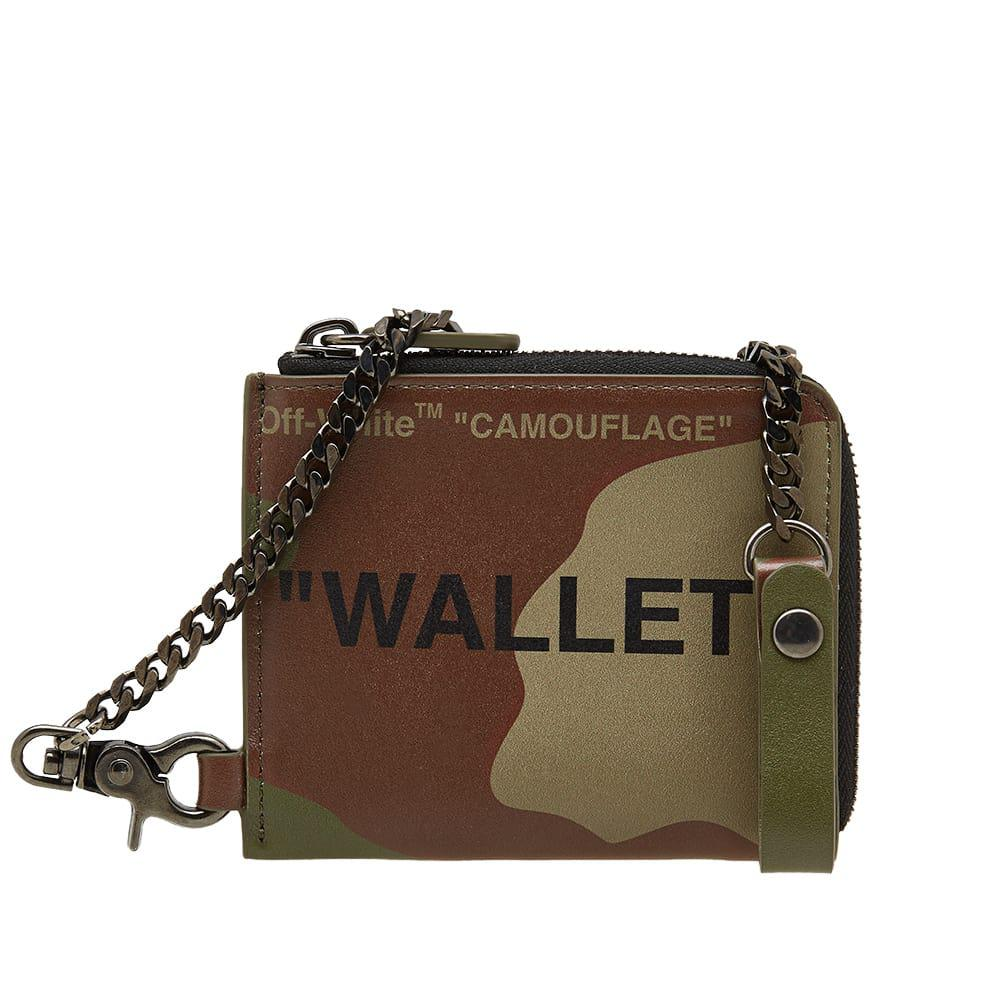 6b5ae9926b09 Off-White c/o Virgil Abloh Quote Chain Wallet in Green for Men ...