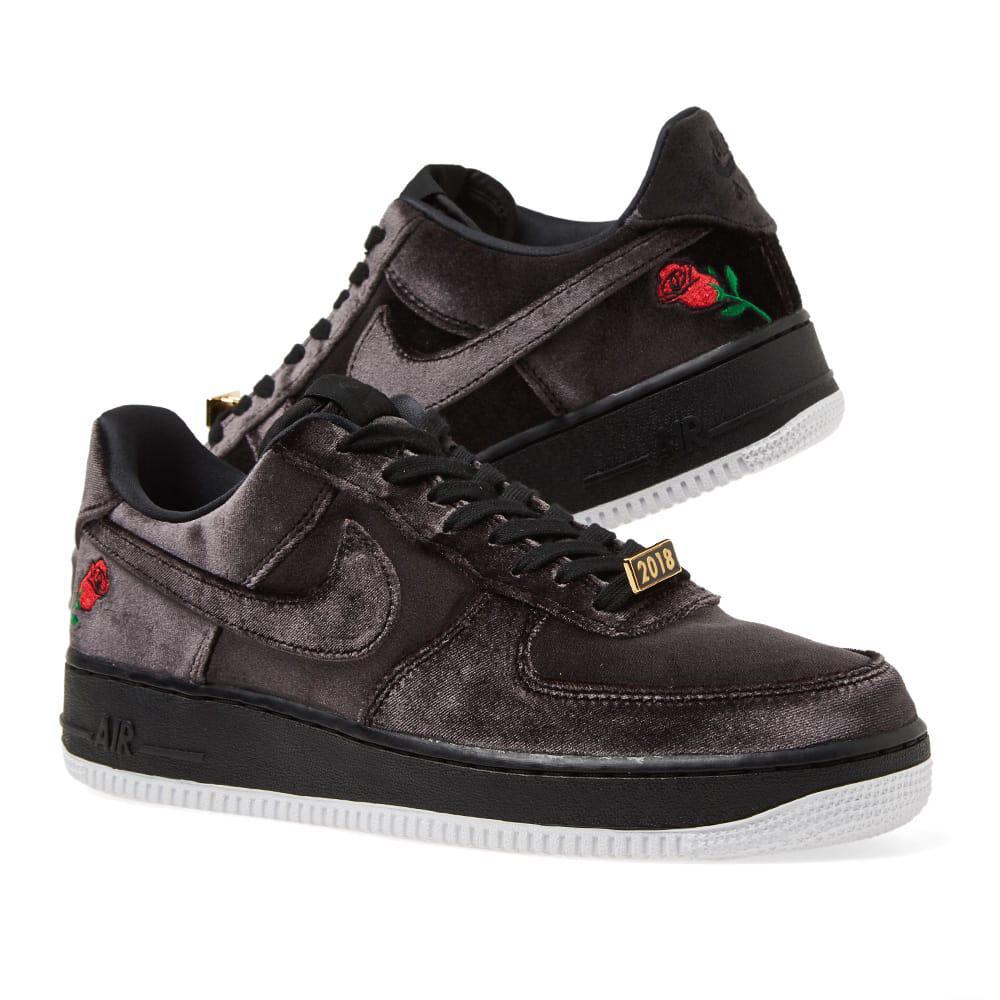 c5537e13c367 Nike - Black Air Force 1  07 Qs for Men - Lyst. View fullscreen