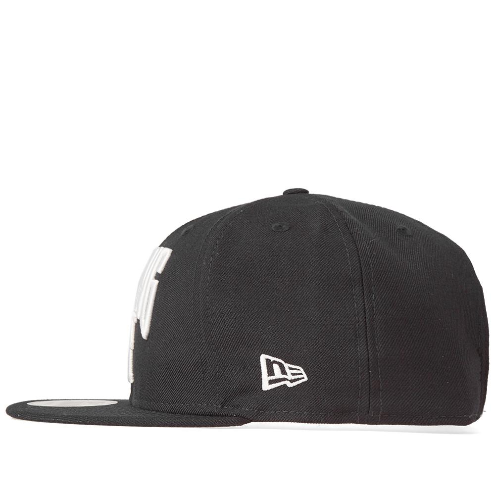 Lyst - A Bathing Ape New Era Nyc Logo Snapback Cap in Black for Men 8370e213f4ec
