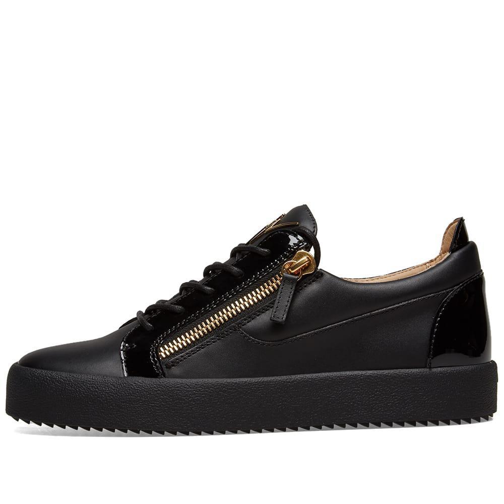 6782f746495 Giuseppe Zanotti - Black Double Zip Low Sneaker for Men - Lyst. View  fullscreen
