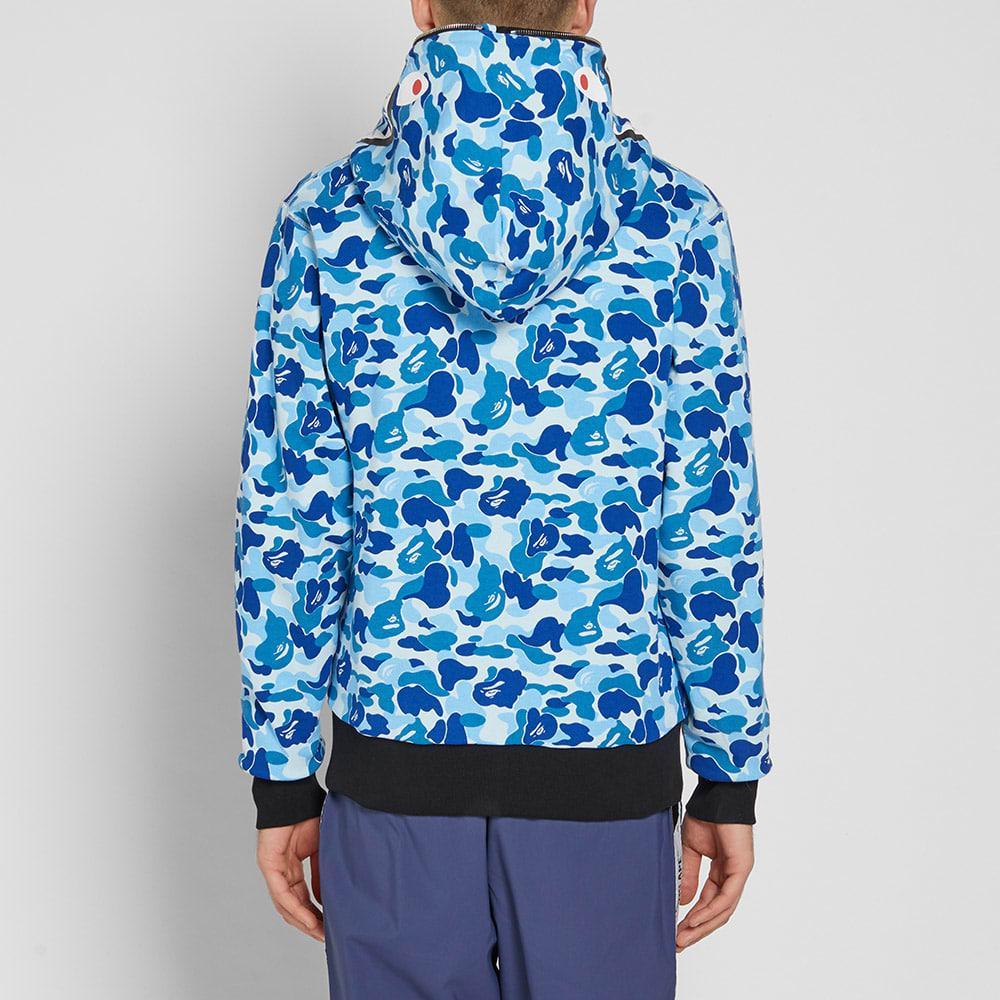 211c90d4 A Bathing Ape Abc Reversible Shark Zip Hoody in Blue for Men - Lyst