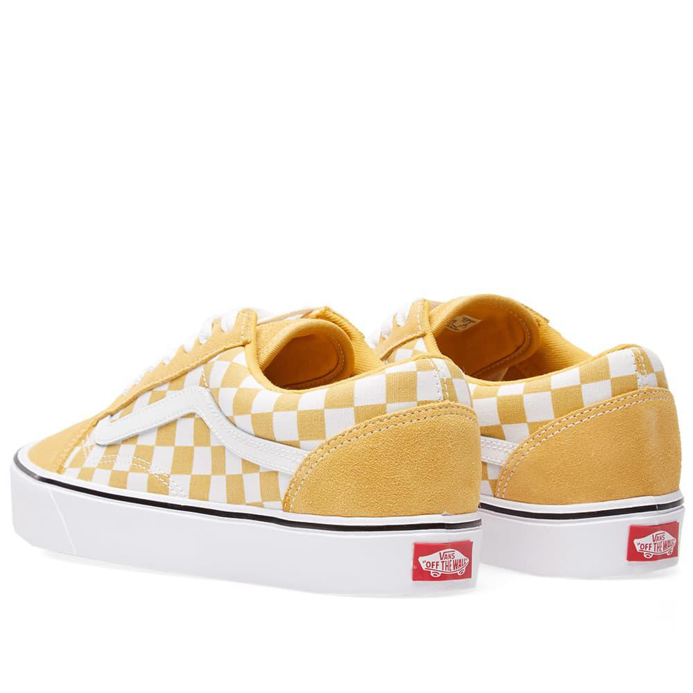 Lyst - Vans Old Skool Lite Checkerboard in Yellow for Men cd33620bb