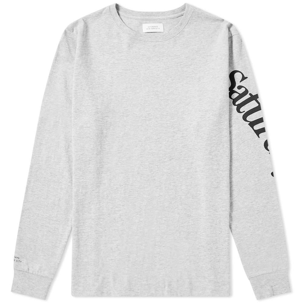 f7fa0e12f0 Lyst - Saturdays NYC Long Sleeve Warped Tee in Gray for Men