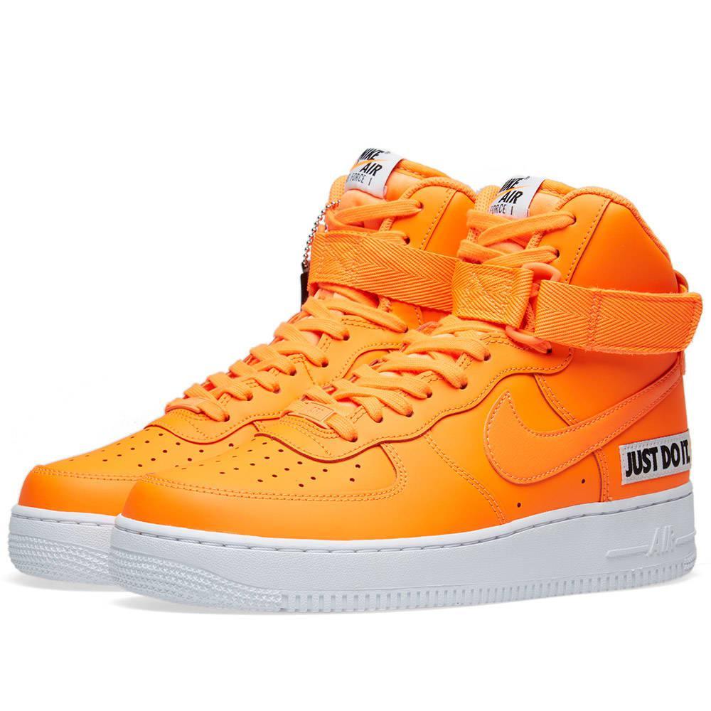 Lyst - Nike Air Force 1 High Lx W in Orange b478832e8668