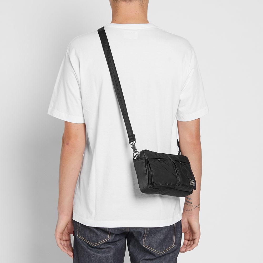 e15760d12a Porter Tanker Two Pocket Shoulder Bag in Black for Men - Lyst