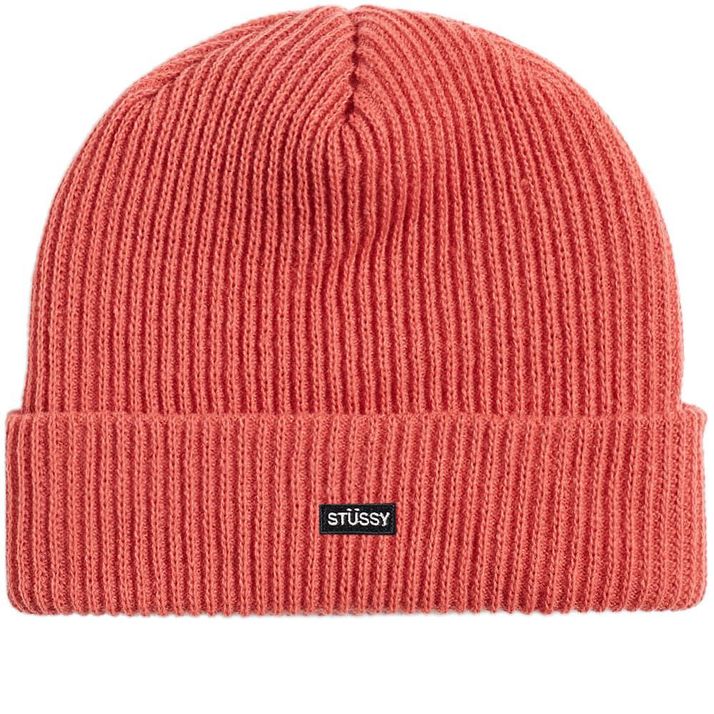bf609765078 Stussy - Pink Small Patch Watchcap Beanie for Men - Lyst. View fullscreen