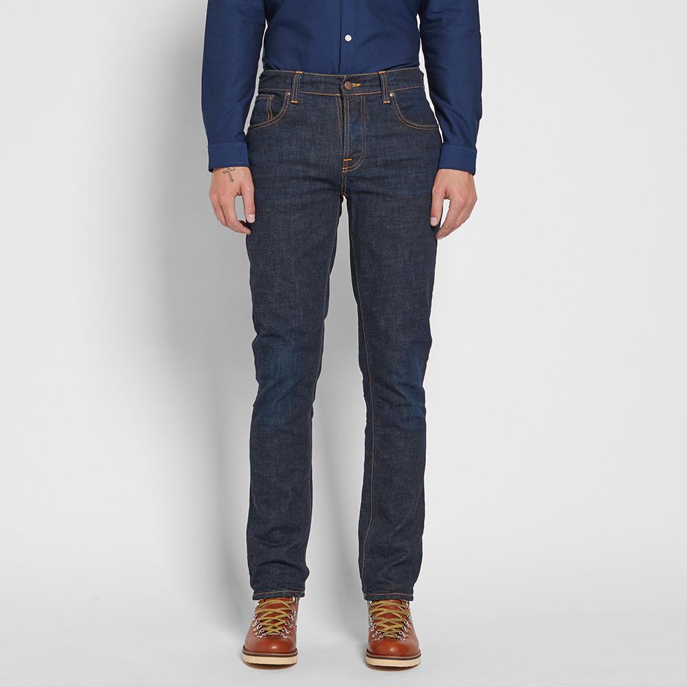 lyst nudie jeans nudie grim tim jean in blue for men. Black Bedroom Furniture Sets. Home Design Ideas