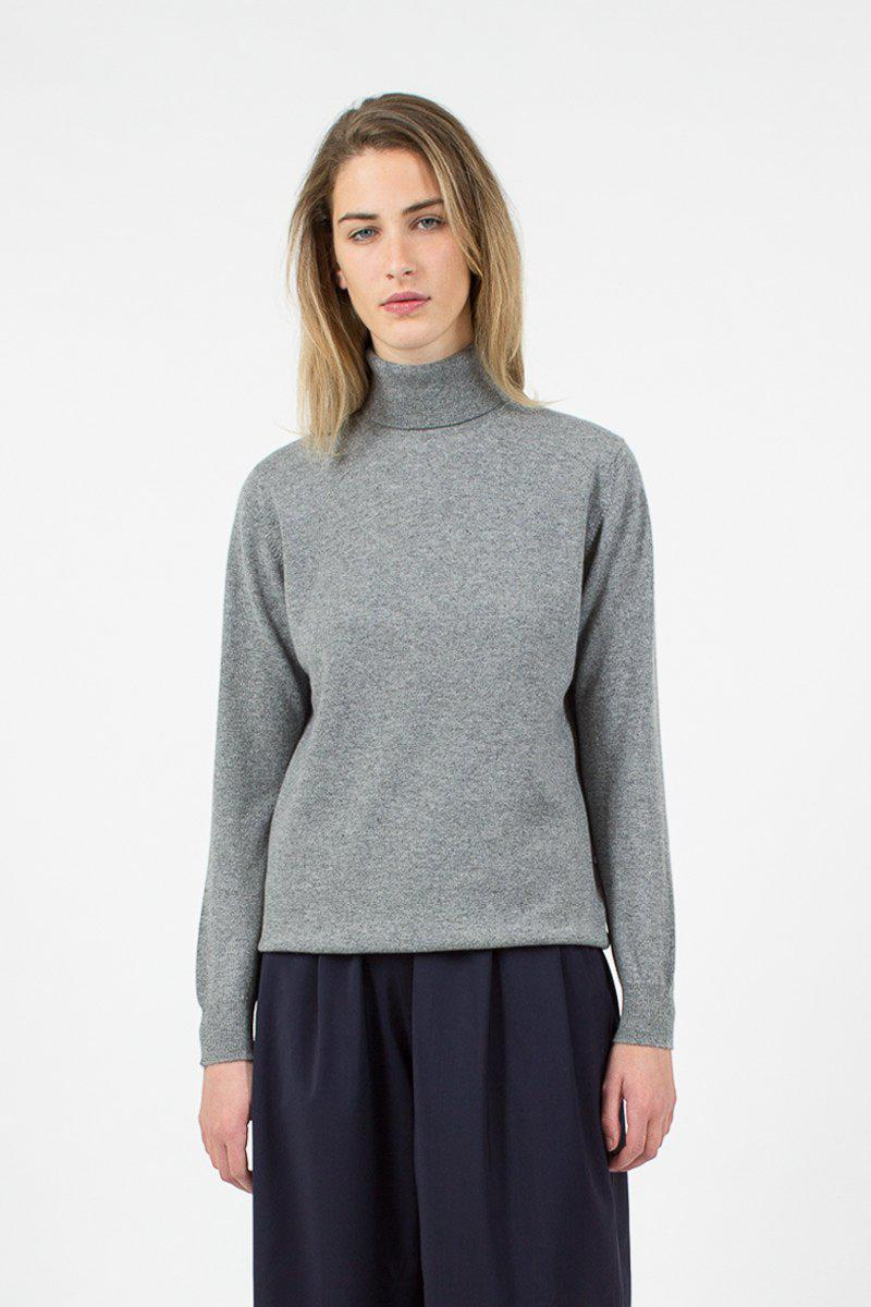 86dc2518c Lyst -  Daughter Casla Cashmere Roll Neck Flannel Grey in Gray