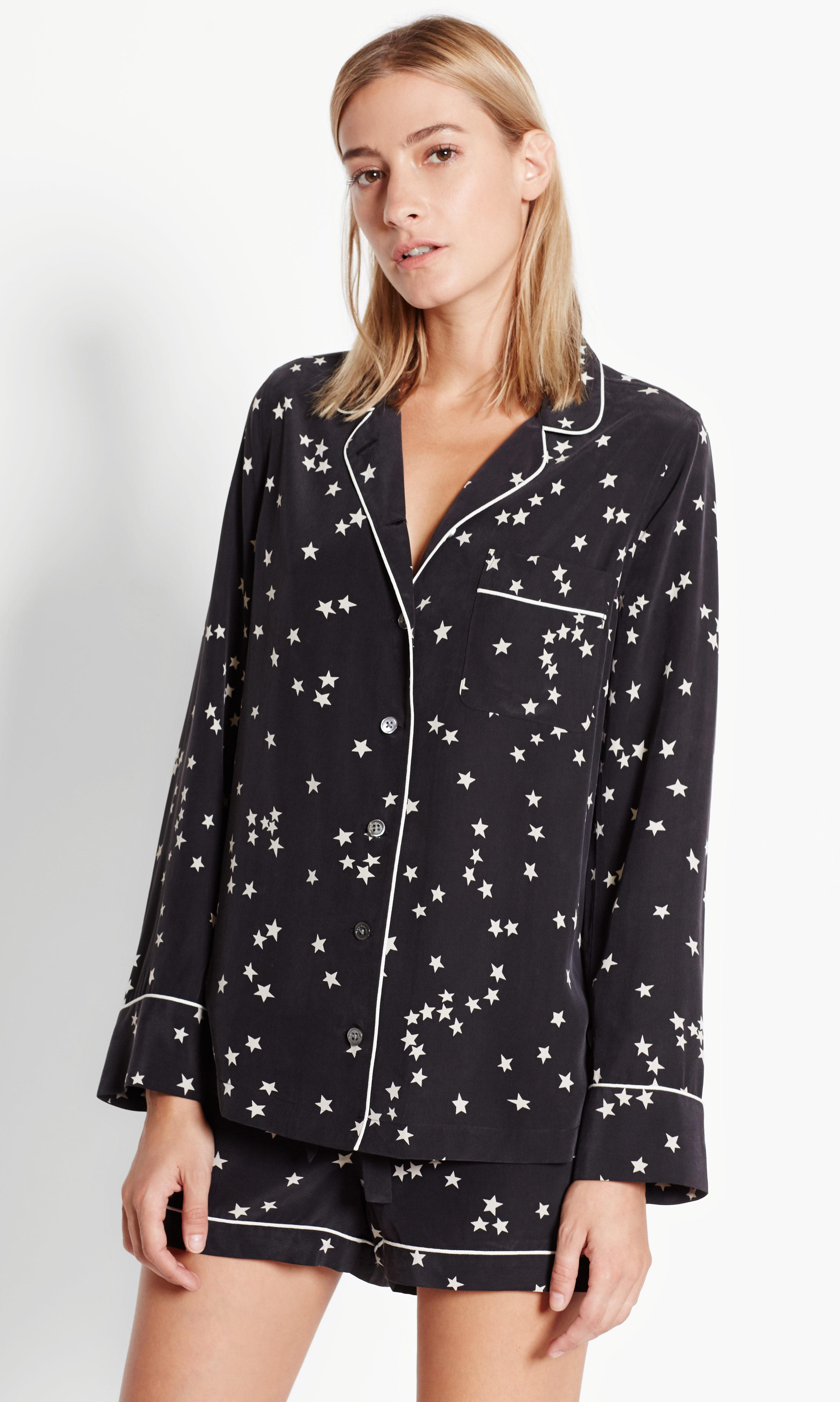 b6cd202161 Equipment Lillian Pajama Set in Black - Lyst