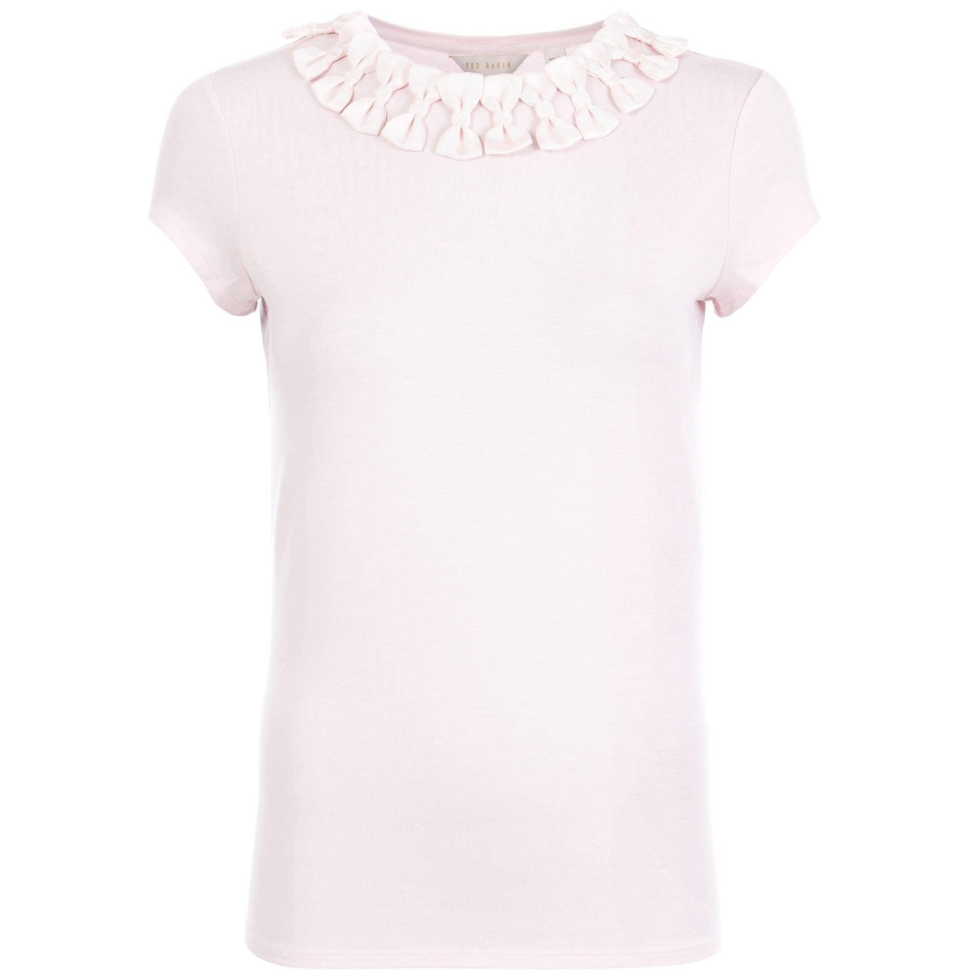 7b51ca6a80c72 Ted Baker Charre Bow Neck Trim T-shirt in Pink - Lyst