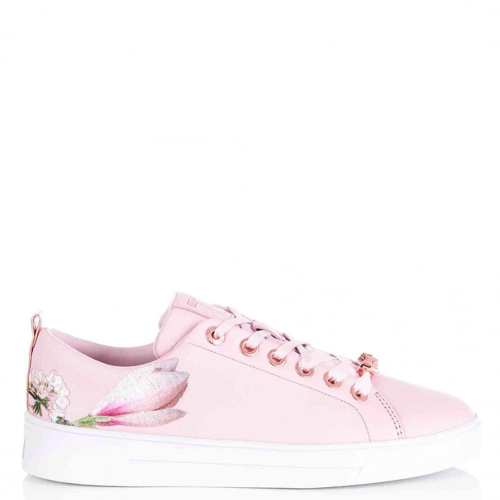d239eeca2e8014 Ted Baker Kelleie Blossom Harmony Leather Sneaker In Pink in Pink - Lyst