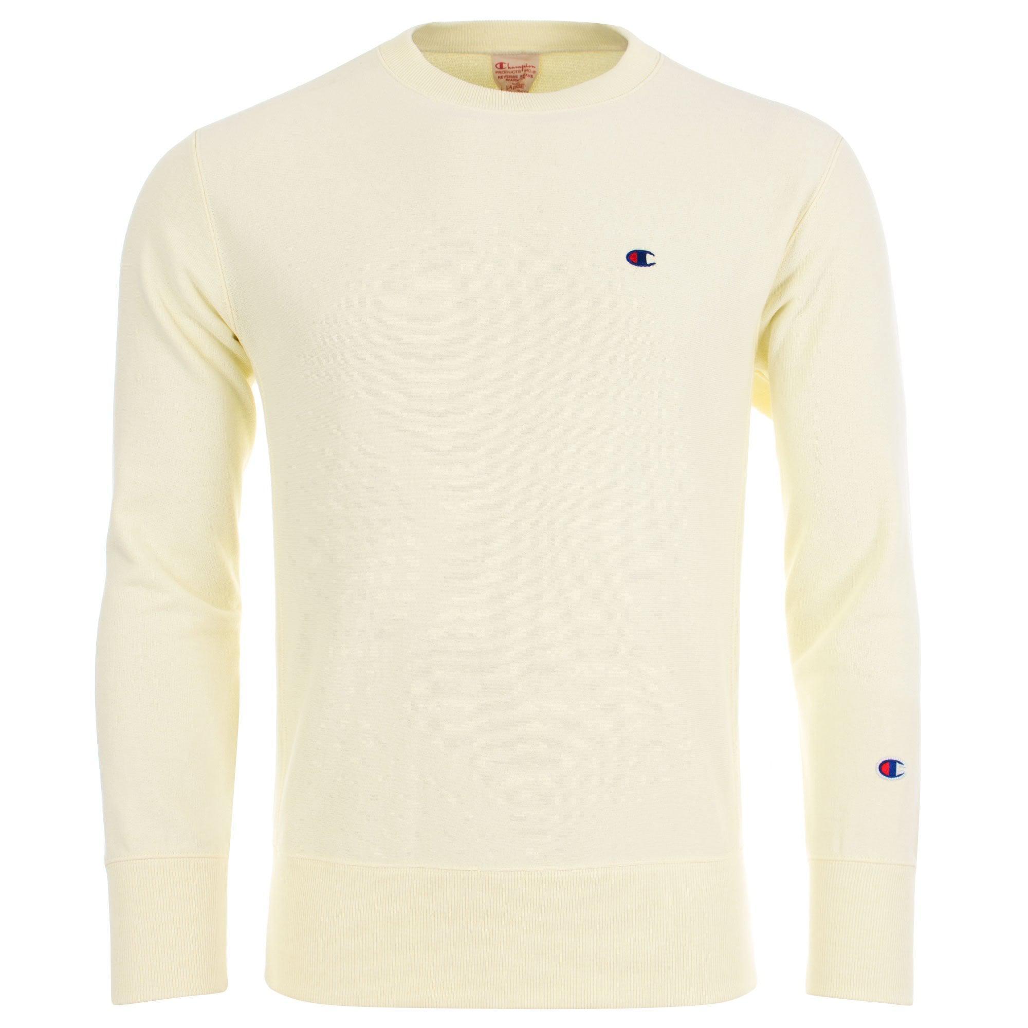 4b0daa72d Champion Reverse Weave Small Logo Sweatshirt in Yellow for Men - Lyst