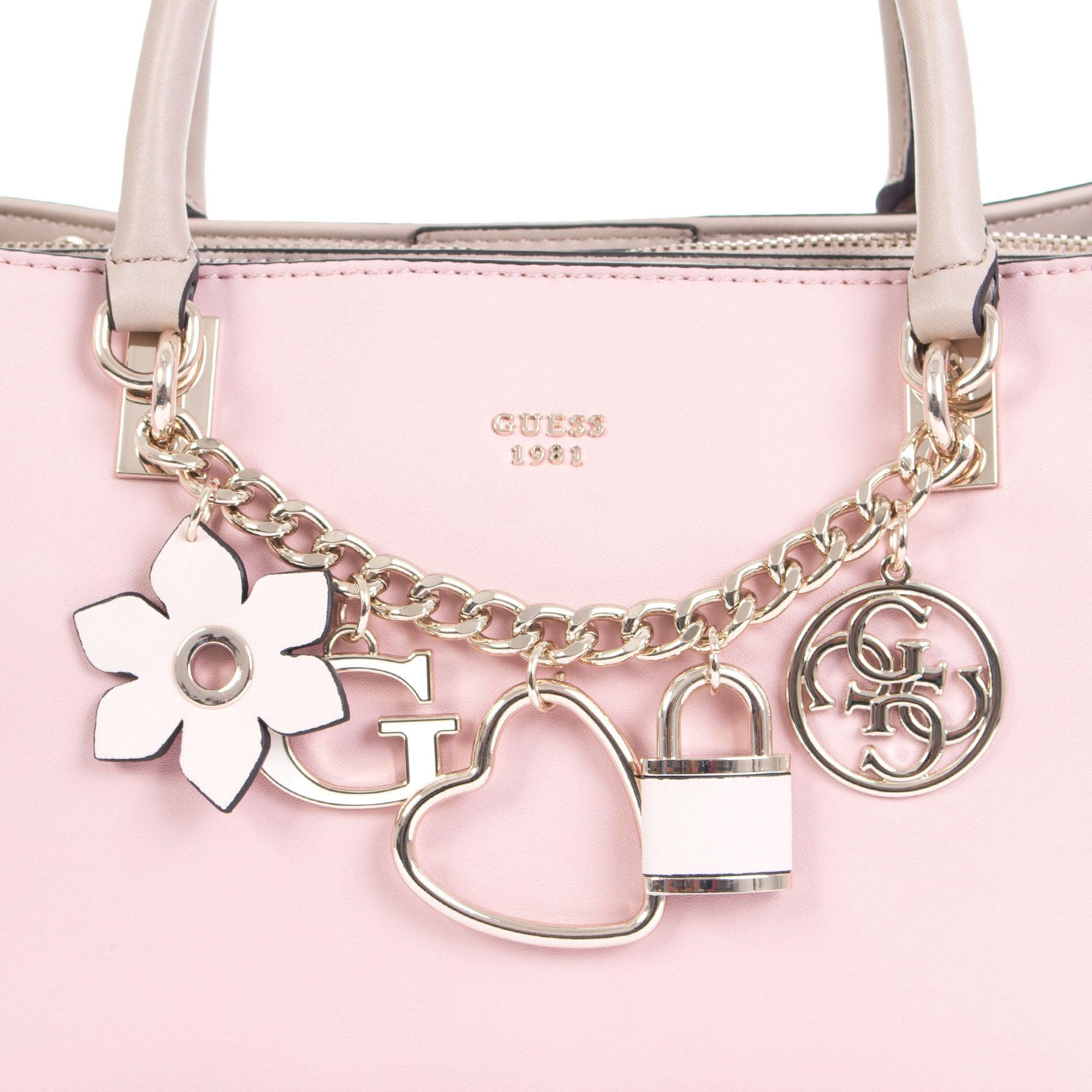 084d569972 Guess Hadley Multi Charm Tote in Pink - Lyst