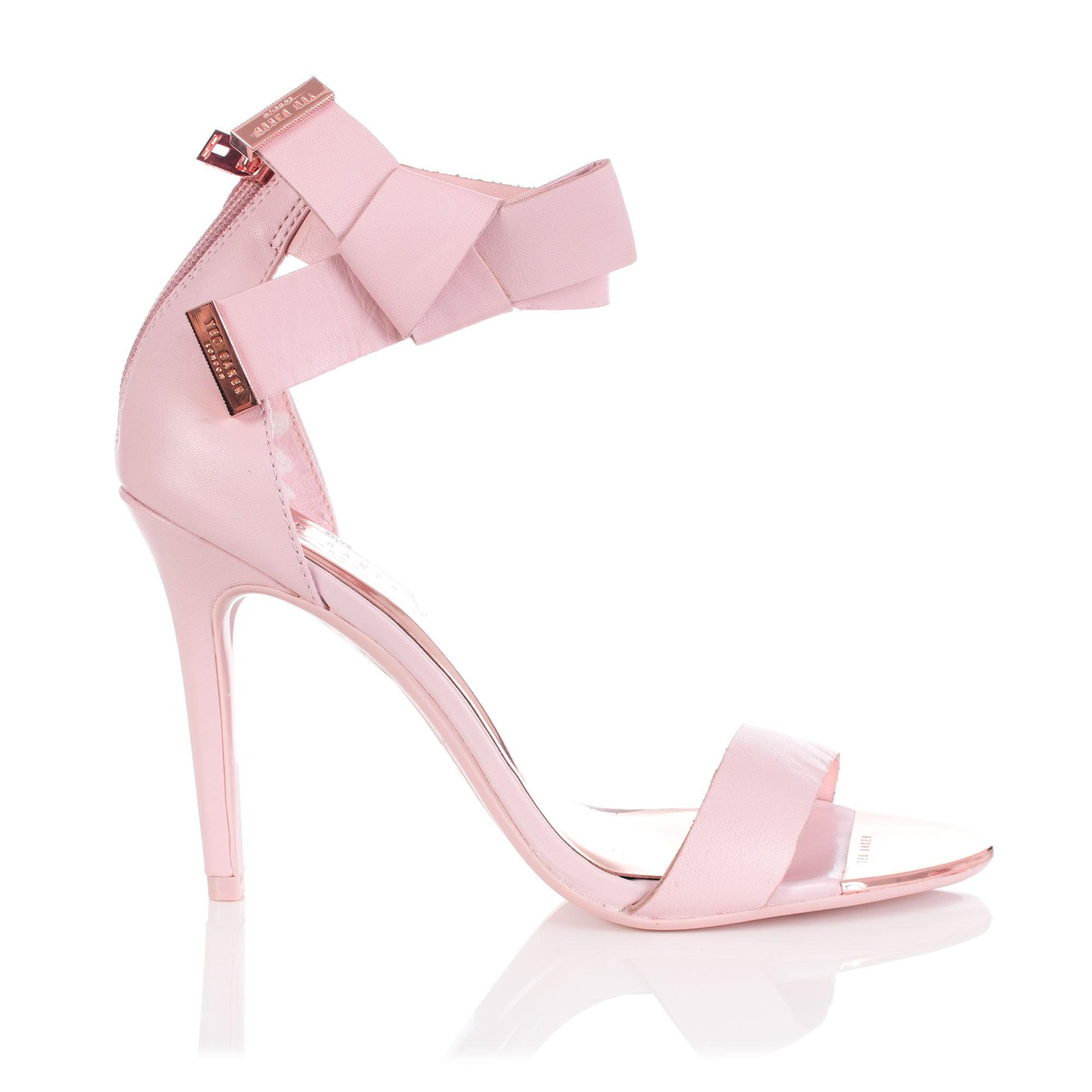 e30b8a4c7 Ted Baker Saphrun Knotted Bow Leather Sandal in Pink - Lyst