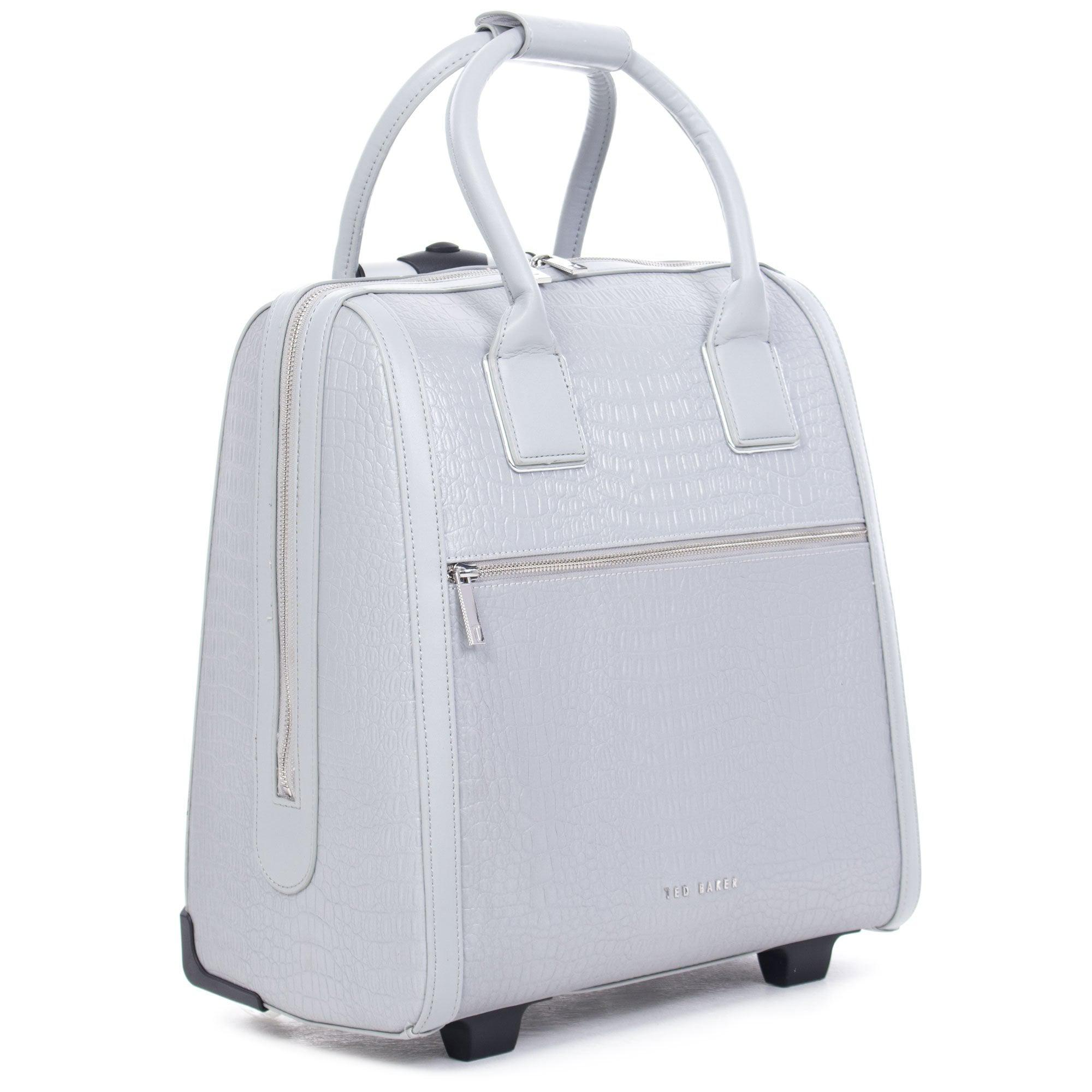 84465c942442 Ted Baker Cressa Croc Embossed Travel Bag in Metallic - Lyst