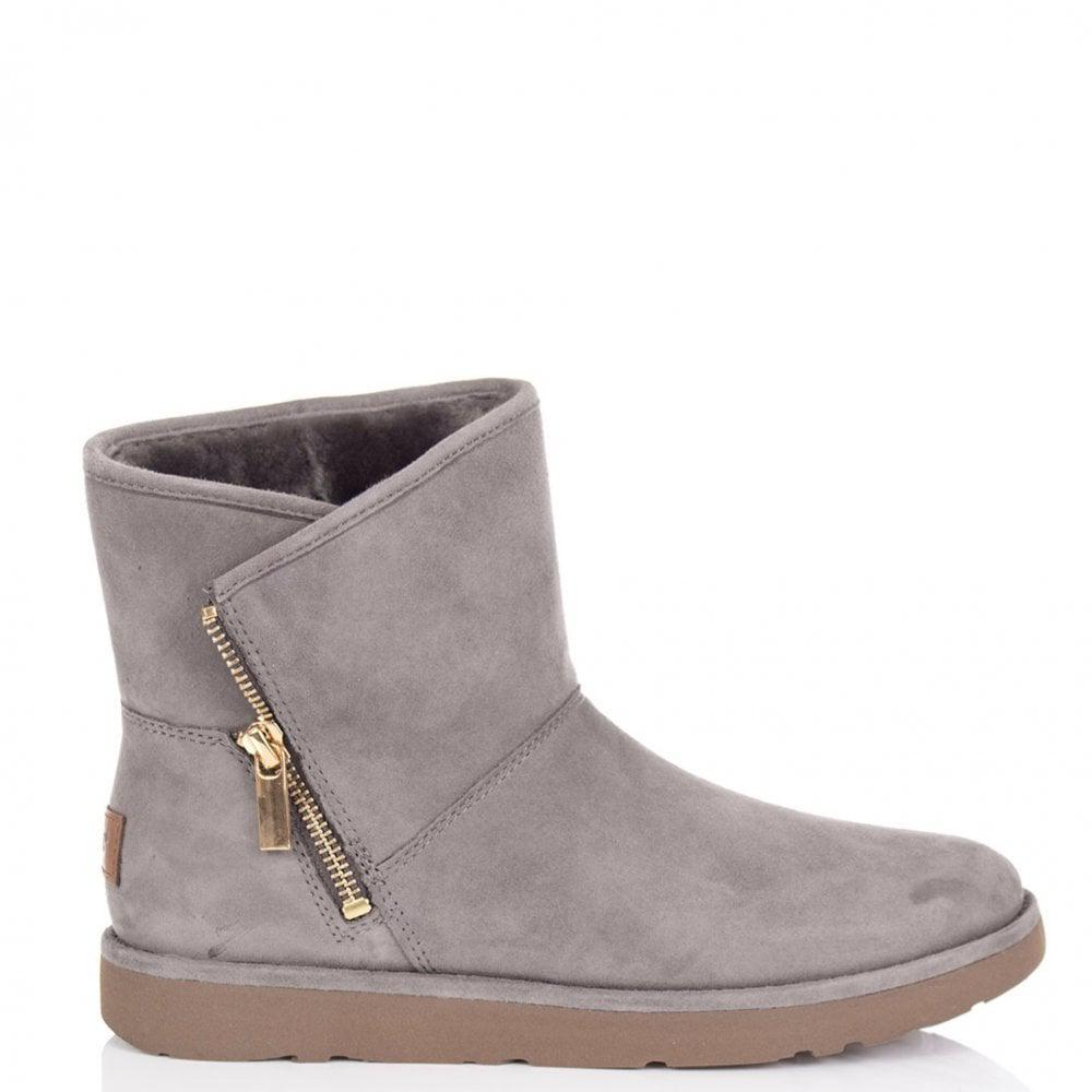 UGG. Women's Gray Kip Side Zip Boot