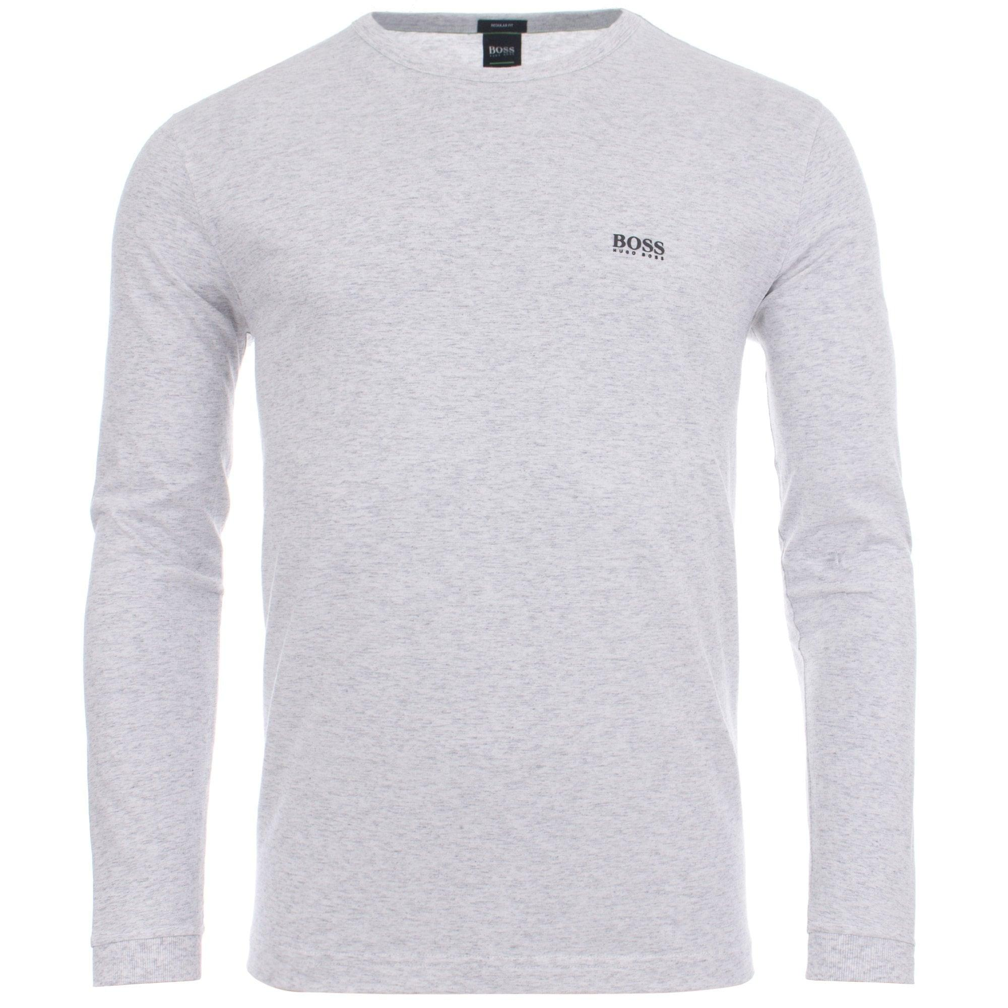 5630856b2 BOSS Athleisure Togn Rubberised Logo Long Sleeve Top in Gray for Men ...