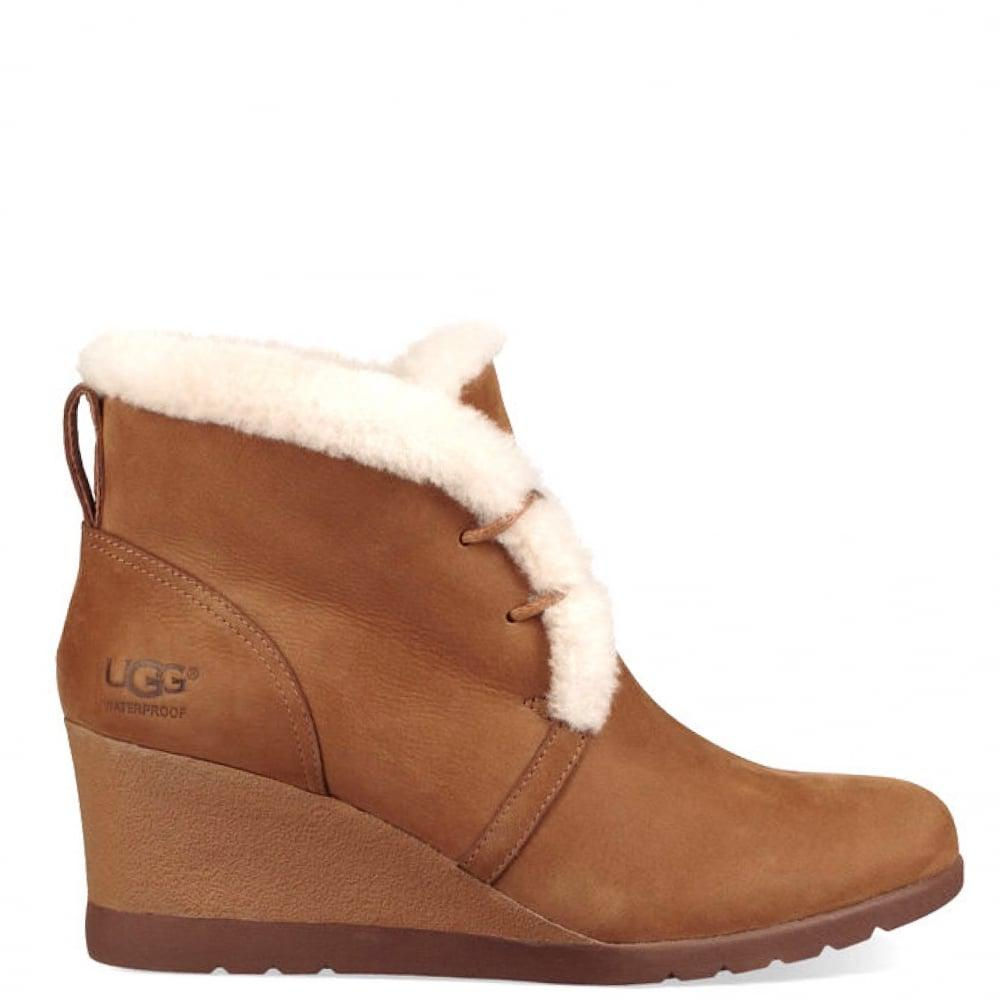 fd7f7731cfc5 UGG Jeovana Wedge Boot in Brown - Lyst