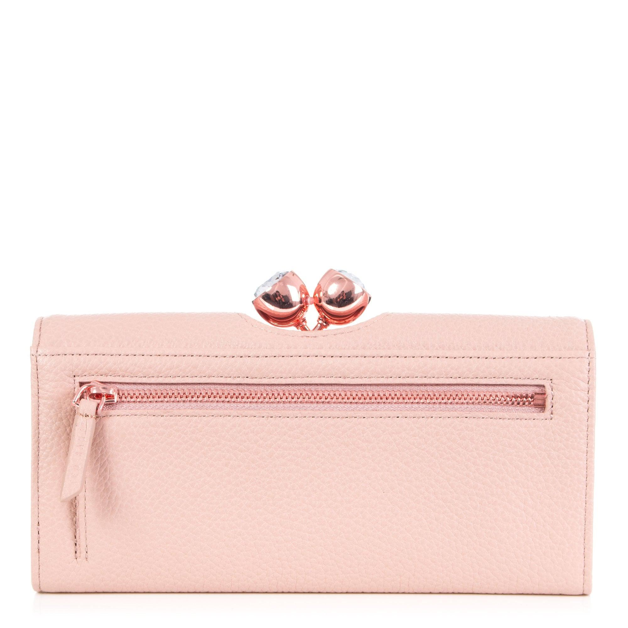 bcdae198795 Ted Baker Tammy Textured Leather Bobble Purse in Pink - Lyst
