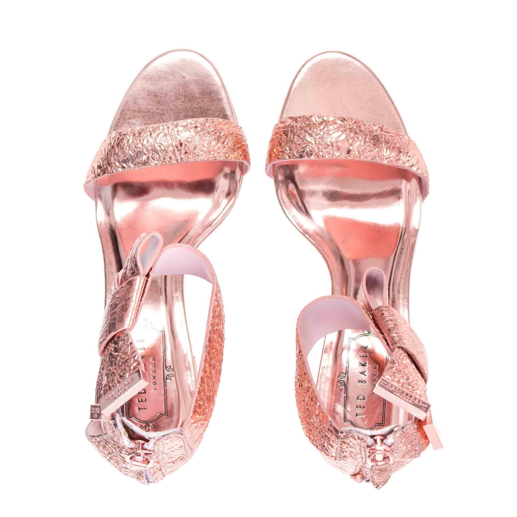afd9fdb3d Ted Baker Kerria Knotted Bow Sandal In Rose Gold in Pink - Lyst
