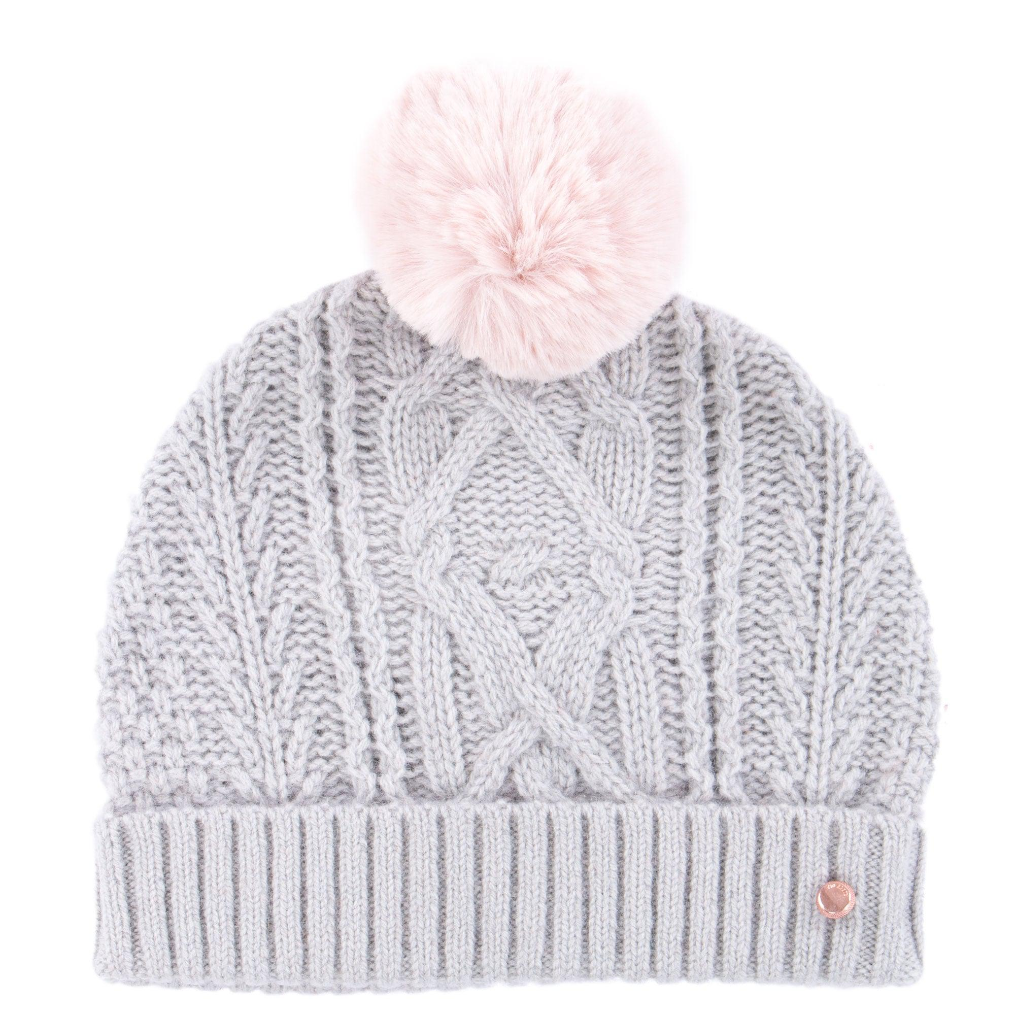 Ted Baker Kyliee Bobble Hat in Gray - Lyst 80d933498d22