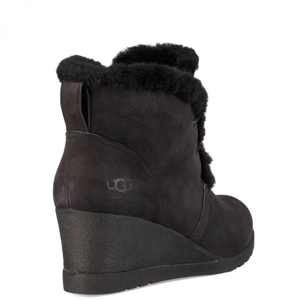 4ec3d5fa954b UGG Jeovana Wedge Boot In Tan in Black - Lyst