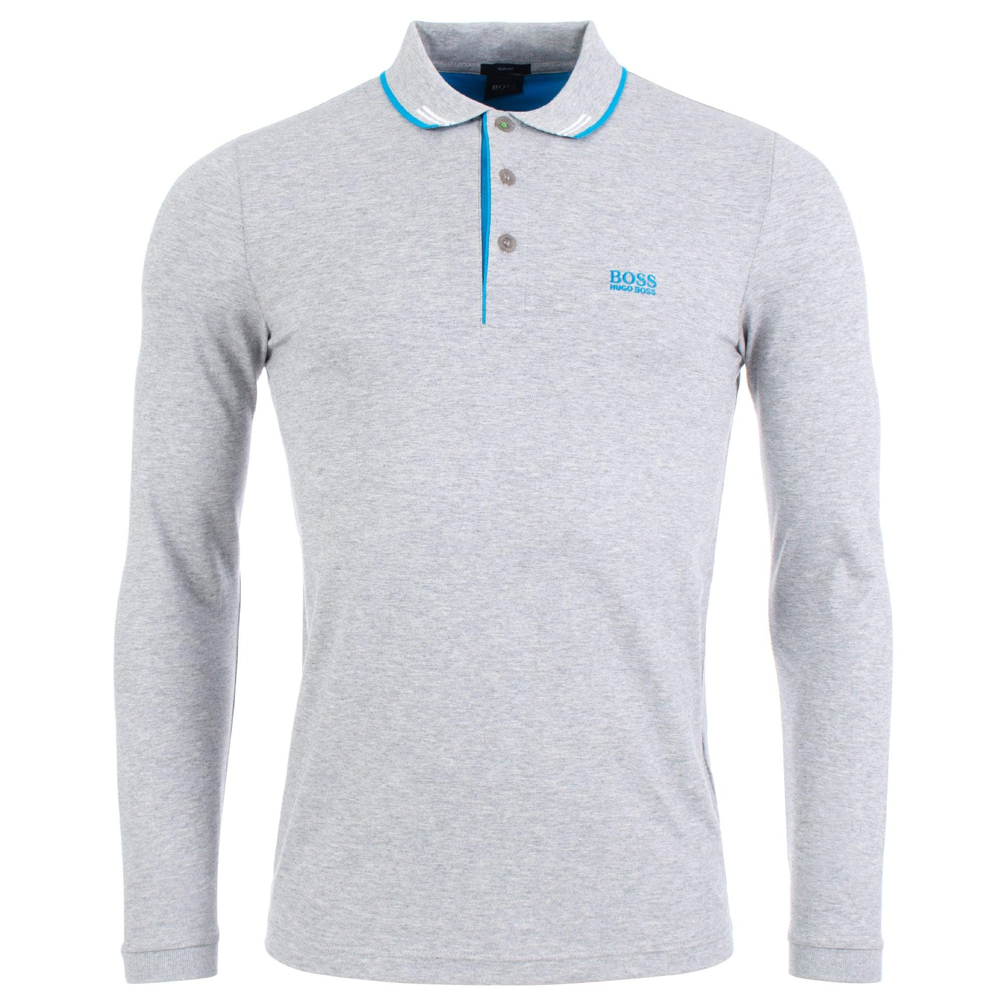 c4270d669 BOSS Athleisure Paulson Long Sleeve Polo in Gray for Men - Lyst