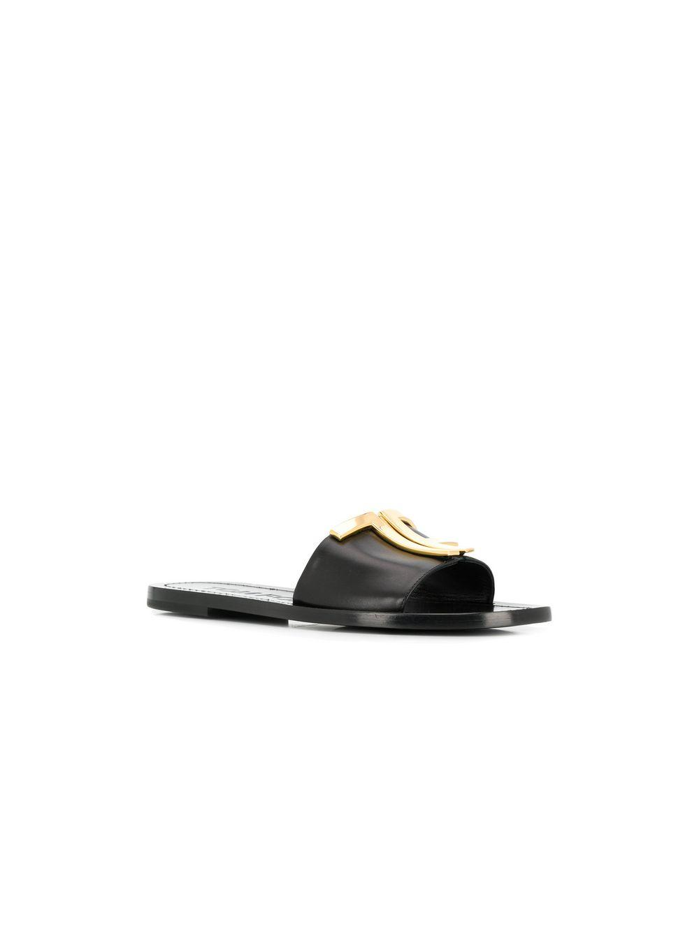 0bbf6c3a9d69 Lyst - Tom Ford Logo Plaque Slides in Black - Save 11%