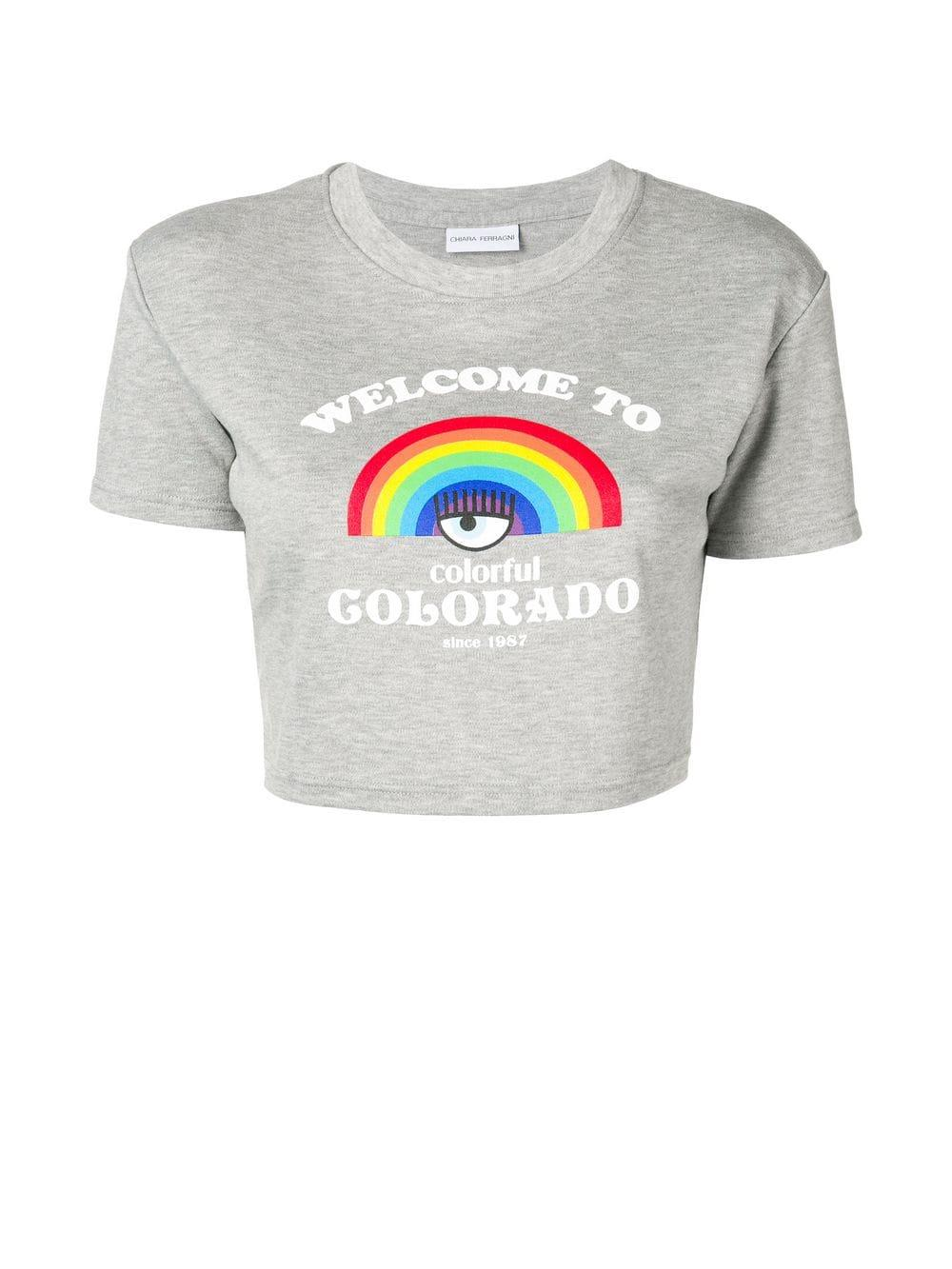 37f11fcfd Chiara Ferragni - Gray Welcome To Colorado T-shirt - Lyst. View fullscreen