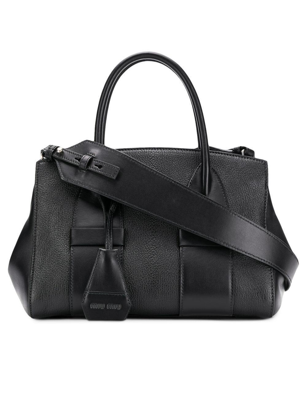 74e897d6e1 Lyst - Miu Miu Classic Tote Bag in Black - Save 12%