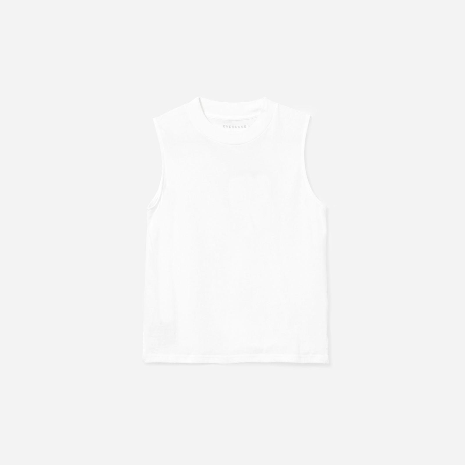 f83d71f793aeea Lyst - Everlane The Cotton Mockneck Muscle Tank in White