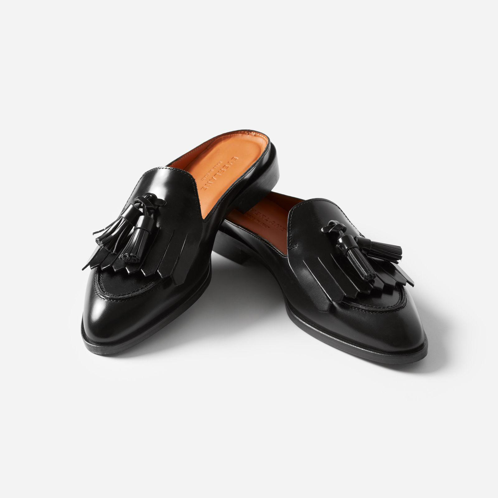 988116b193b Lyst - Everlane The Modern Tassel Loafer Mule in Black