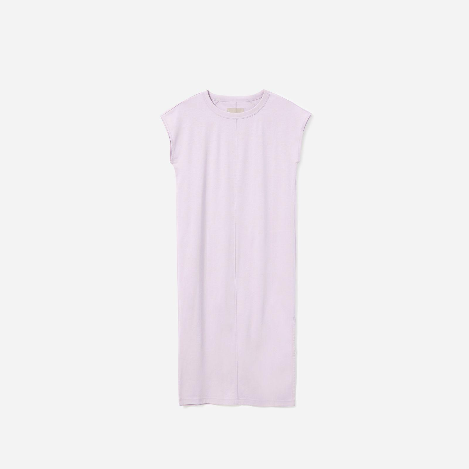 069b778514365f Everlane The Luxe Cotton Side-slit Tee Dress in Purple - Lyst