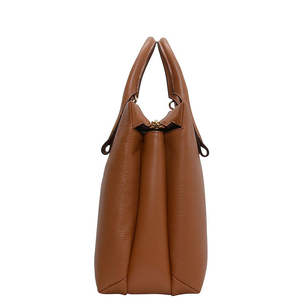 39a31192aaca9a Michael Kors Rollins Large Snake Leather Tote Bag in Brown - Lyst