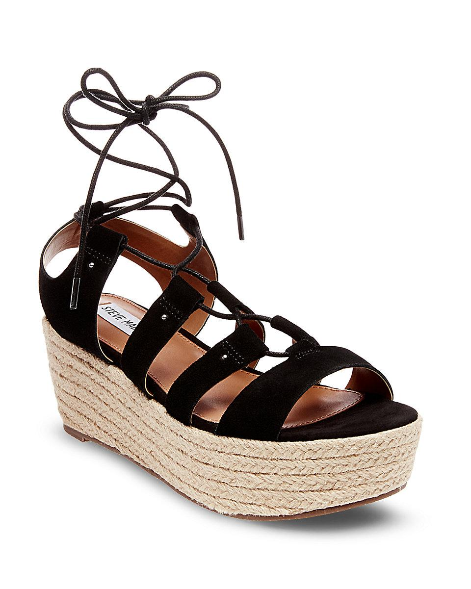 19497c03b9d Lyst - Express Steve Madden Brayla Wedge Sandal in Black