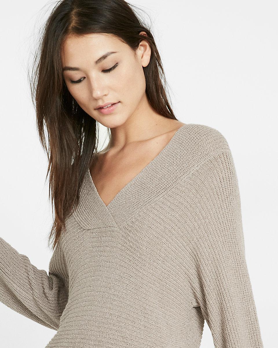 cc062d0e15 Lyst - Express Wide Open Neck Kimono-sleeve Sweater in Gray