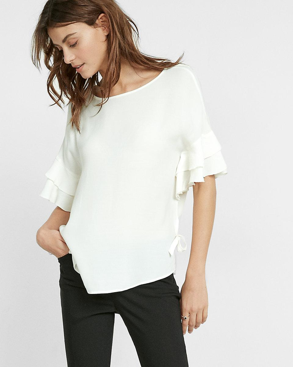 Textured Grid Drop Shoulder Ruffle Sleeve Blouse. $ MSRP: $ New. Like. Dylan by True Grit. Washed Rayons Buffalo Check Plaid Ruffle Short Sleeve Blouse. $ Like. TWO by Vince Camuto. Metallic Stripe Ruffle Sleeve Blouse. $ MSRP: $ Like. TWO by Vince Camuto. Ruffle Sleeve Crinkle Gauze Blouse.