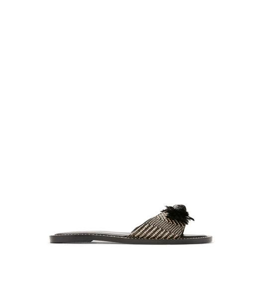 6e87b05a7 Lyst - Express Raffia Bow Sandals in Black