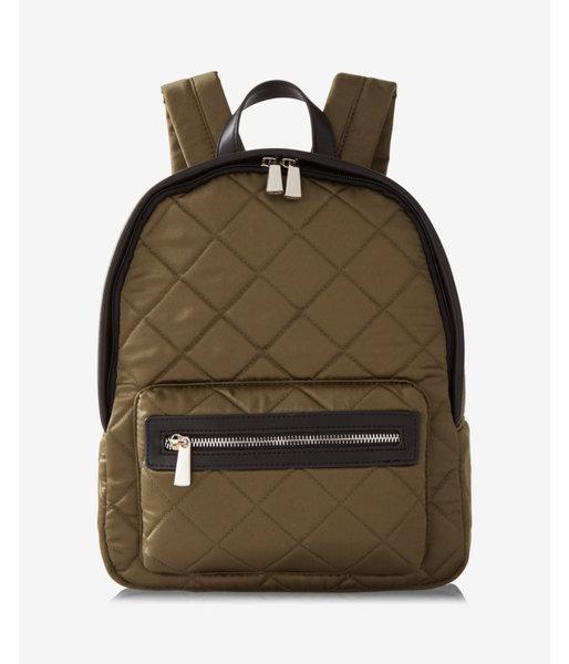 0c7f9b30ff Lyst - Express Quilted Satin Backpack in Green for Men