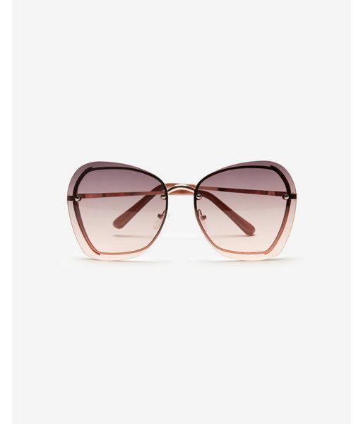 dbb4ada0d1 Express - Metallic Metal Inset Rimless Cat Eye Sunglasses - Lyst. View  fullscreen