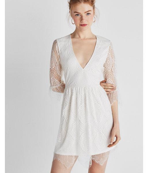 Express V-Neck Lace Dress